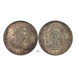 Mexico, 1819 Mo JJ 8 Reales, Spanish Colony, Silver, PCGS AU58