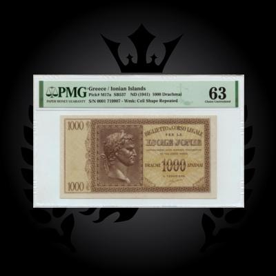 1941-1000-drachmai-pmg-63-ionian-islands-banknotes-europe-greece-planetnumismatics.1