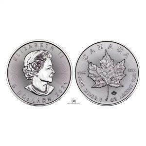 Canada, 2021 5 Dollars, Silver 1 Ounce, Maple Leaf, BU