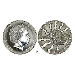Australia, 2002 1 Dollar, Silver 1oz, 4th Portrait – Kangaroo, UNC