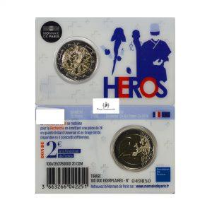 France, 2020 2 Euro, Medical Recearch, Coincard BU