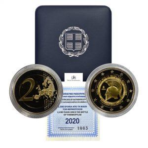 Greece, 2020 2 Euro, Battle of Thermopylae, Proof