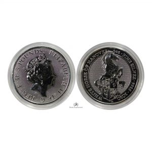 Great Britain, 2020 2 oz Silver Queen's Beast (White Horse of Hannover) Coin .9999 Fine, BU