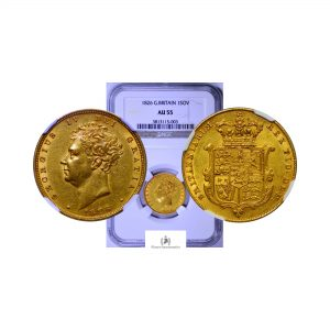 Great Britain, 1826 Gold Sovereign, George IV, NGC AU55