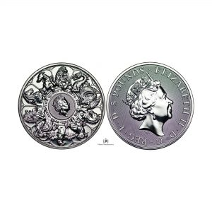 Great Britain, 2021 2oz Silver Queen's Beast (Completer) Coin .9999 Fine, BU
